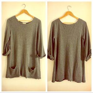 Sweaters - Gray Sweater Tunic